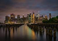 Manhattan Skyline as Seen from Brooklyn, New York