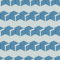 Seamless Cube Like Geometric Pattern from Shape Intersections