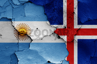 flags of Argentina and Iceland