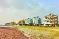 Residental district on seashore