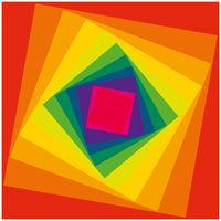 Psychedelische Illusion als Regenbogen Spirale