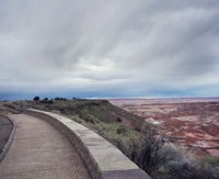 Petrified Forest National Park overlook, Arizona, USA.