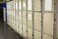 Lockers of a station