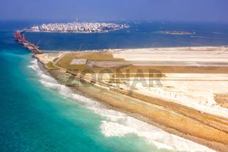 Flughafen Malediven Male Insel Luftbild