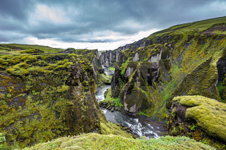 Fjadrargljufur Canyon in south east of Iceland
