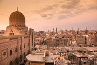 sunset scenery at Cairo Egypt
