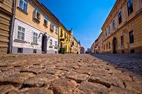 Old paved street in Tvrdja historic town of Osijek