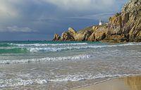 Leuchtturm am Atlantik, Bretagne, Frankreich