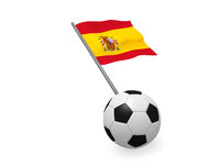 Soccer ball with the flag of Spain