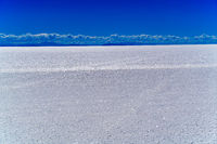 View of Salar de Uyuni, the world's largest salt flat in the Daniel Campos Province in Potosi