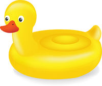 Swimming Ring Duck