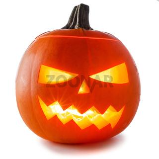 Halloween Pumpkin on white