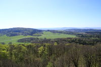 Blick über die Lausitz in Sachsen bei Görlitz in Deutschland