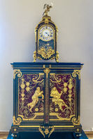 Decorative Clock and Sideboard At  The Hermitage, St. Petersburg Russia