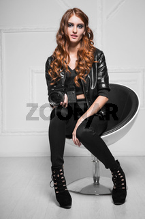 Sexy red-haired woman