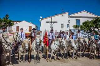 Guards on white horses