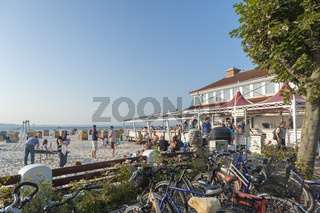 Strand und Strandrestaurant in Laboe