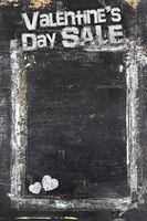 Valentine's Day Sale chalkboard background