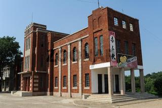 Pjoengjang, Nordkorea, Filmkulisse im Pjoengjang-Filmstudio