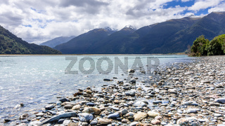 river landscape scenery in south New Zealand
