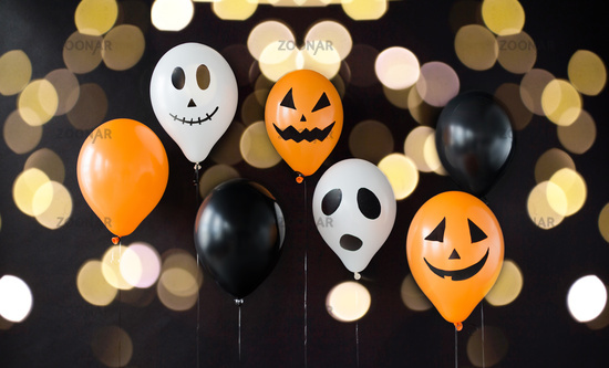 scary air balloons decoration for halloween party