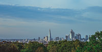 Panorama of skyscrapers in City of London