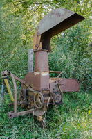 Old iron combine harvester