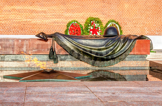 Eternal flame next to the Kremlin Wall in Moscow, Russia