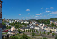View from Weilburg Castle to the city