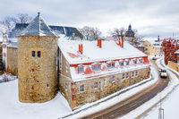 Winterimpressionen aus Harzgerode im Harz Schloss