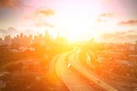 Kuala Lumpur skyline at sunset