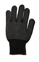 Single PVC dotted black cotton glove