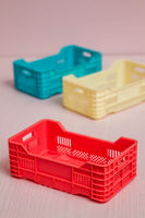 Set of Small Plastic Boxes