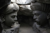 Sant Dhyaneshwar and Tukaram, Hadshi Temple, Sant Darshan Museum near tikona Vadgoan Maval, District Pune, Maharashtra, India