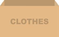 Clothes Donation Box Vector