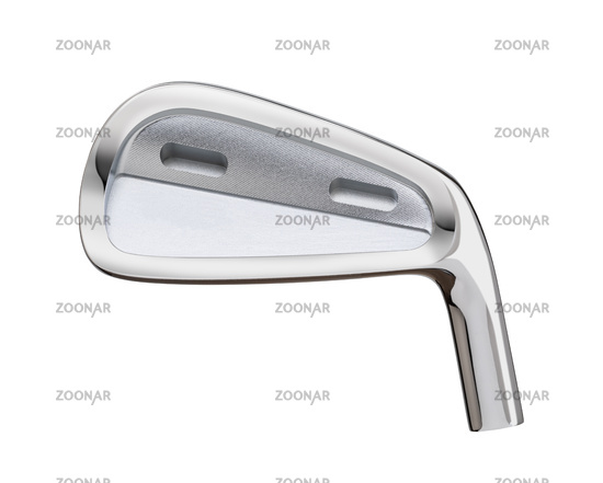 Blank Golf Club Iron Head Back Isolated on a White Background