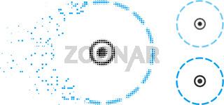 Disintegrating Dot Halftone Circle Area Icon