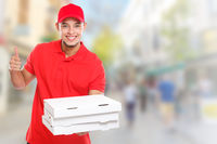 Pizza delivery man boy order delivering job deliver success successful smiling town copyspace copy space