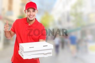 Pizza delivery man boy order delivering job deliver success successful smiling town copyspace copy space