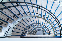 simple modern semicircle staircase