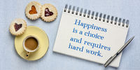 Happiness is a choice and requires hard work