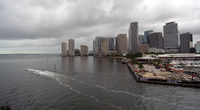 People Jet Skiing Out of the Harbor in Miami Florida