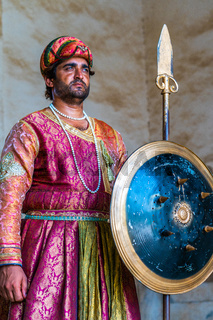 Guard in Lahore Fort, Pakistan