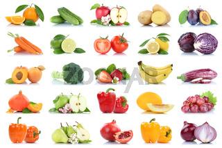 Obst und Gemüse Früchte viele Apfel Tomaten Orangen Zwiebel Farben Freisteller freigestellt isoliert
