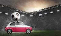 Poland car on football stadium