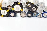 alte Batterien mit Textfreiraum
