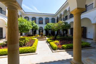 Bogota internal courtyard museum area