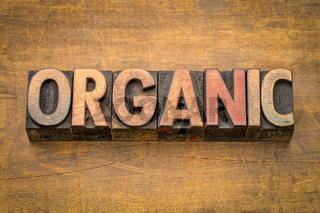 organic word in letterpress type