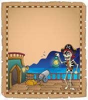 Pirate ship deck topic parchment 4