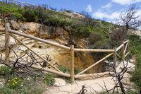 Gesicherter Felstrichter Algarve